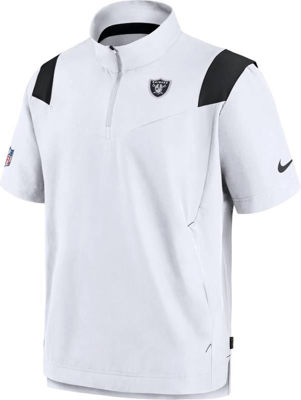 Nike Men's Las Vegas Raiders Coaches Sideline Short Sleeve White Jacket product image