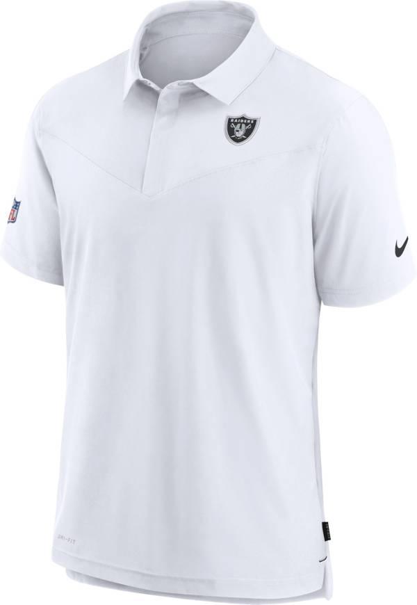 Nike Men's Las Vegas Raiders Sideline Coaches White Polo product image