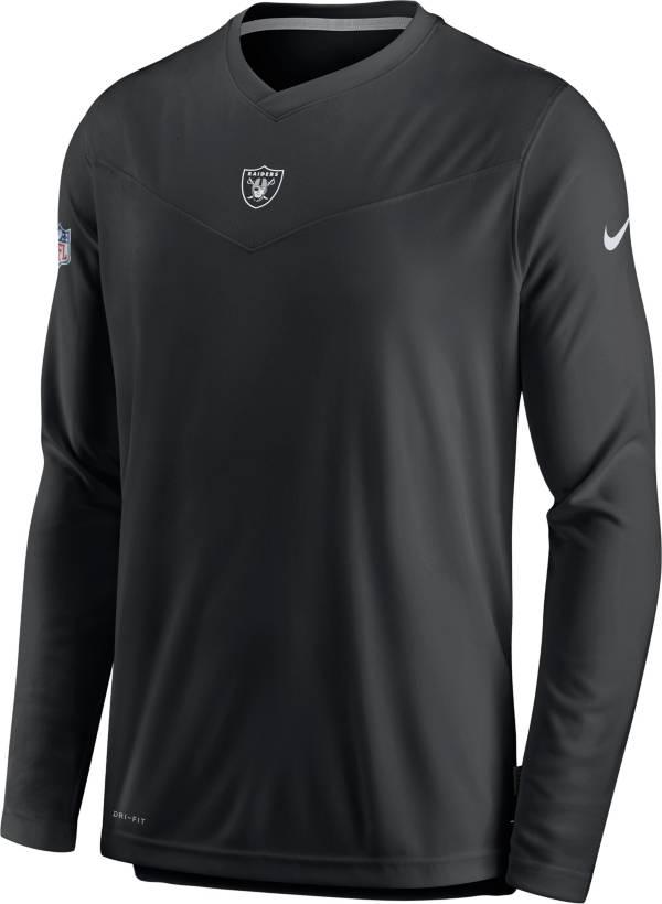 Nike Men's Las Vegas Raiders Sideline Coaches Black Long Sleeve T-Shirt product image
