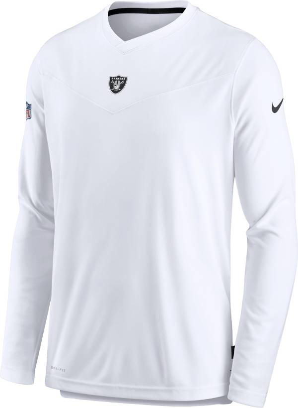 Nike Men's Las Vegas Raiders Sideline Coaches White Long Sleeve T-Shirt product image