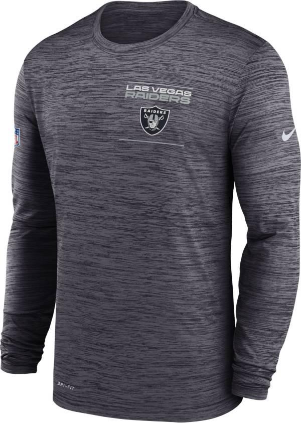 Nike Men's Las Vegas Raiders Sideline Legend Velocity Black Long Sleeve T-Shirt product image