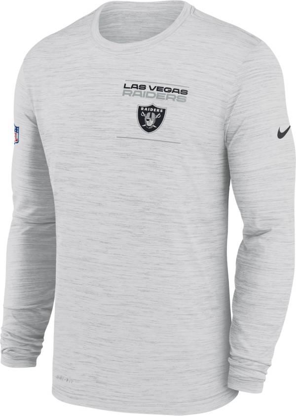 Nike Men's Las Vegas Raiders Sideline Legend Velocity White Long Sleeve T-Shirt product image