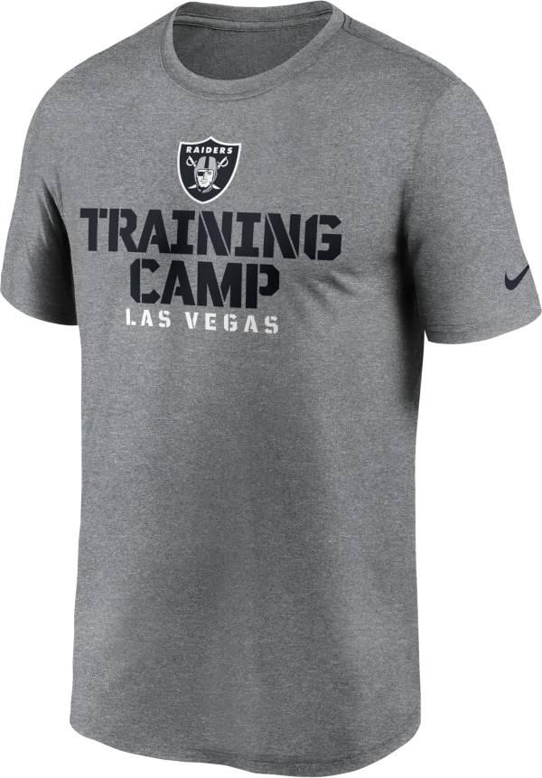 Nike Men's Las Vegas Raiders Training Camp Legend Grey T-Shirt product image