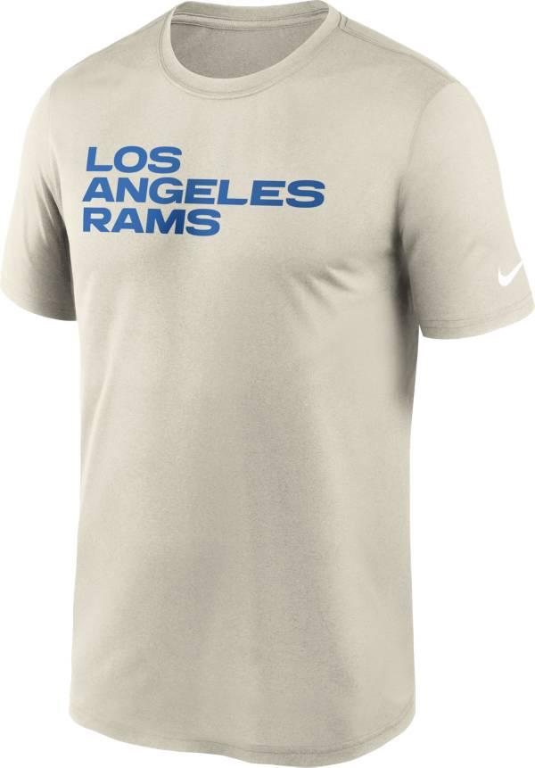 Nike Men's Los Angeles Rams Legend Wordmark Light Bone Performance T-Shirt product image