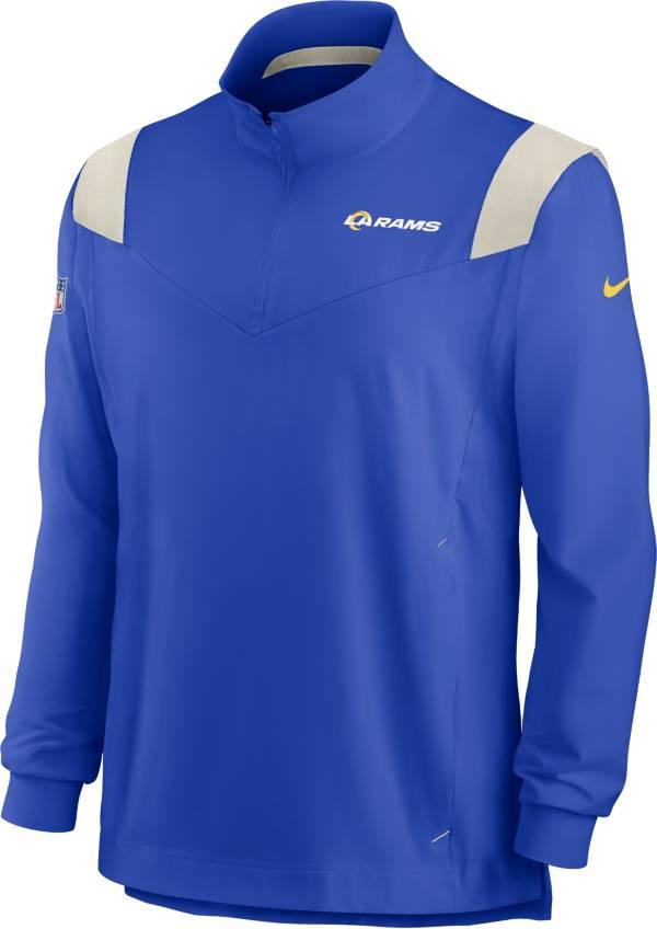Nike Men's Los Angeles Rams Coaches Sideline Long Sleeve Hyper Royal Jacket product image