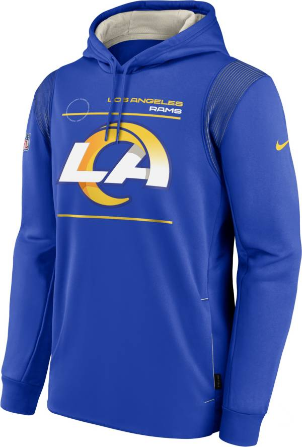 Nike Men's Los Angeles Rams Sideline Therma-FIT Royal Pullover Hoodie product image