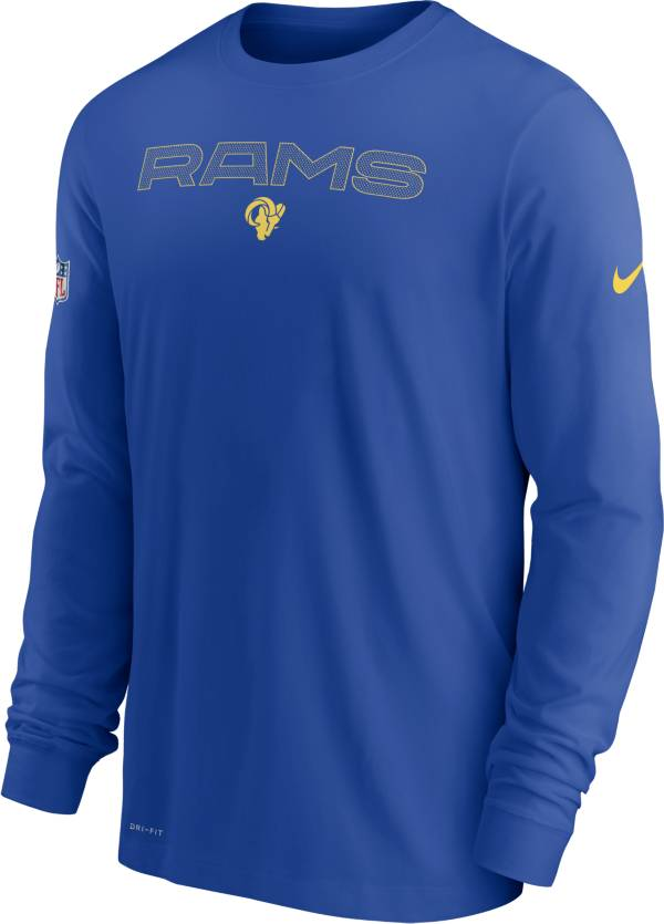 Nike Men's Los Angeles Rams Sideline Team Issue Royal Long Sleeve T-Shirt product image