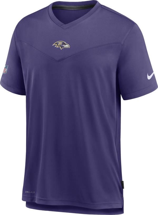 Nike Men's Baltimore Ravens Sideline Coaches Purple T-Shirt product image