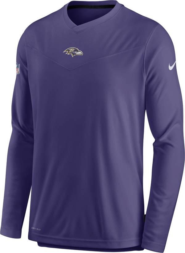 Nike Men's Baltimore Ravens Sideline Coaches Purple Long Sleeve T-Shirt product image