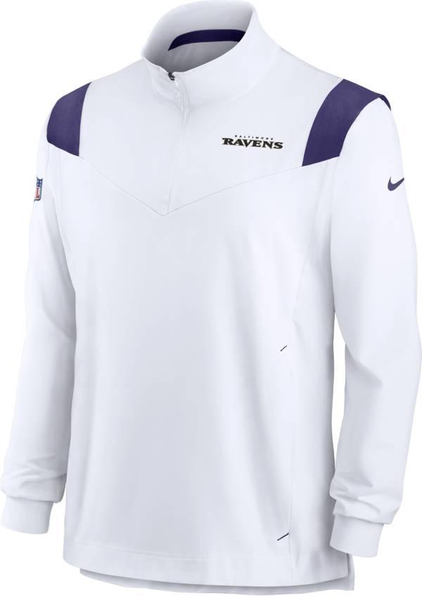 Nike Men's Baltimore Ravens Coaches Sideline Long Sleeve White Jacket product image