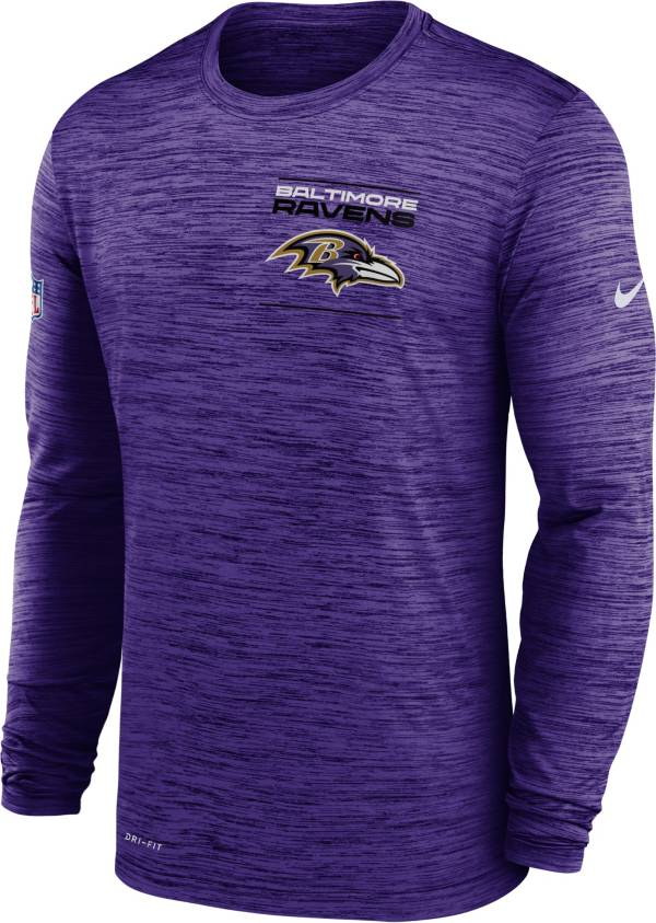 Nike Men's Baltimore Ravens Sideline Legend Velocity Purple Long Sleeve T-Shirt product image