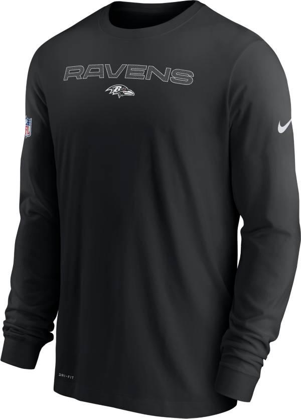 Nike Men's Baltimore Ravens Sideline Team Issue Black Long Sleeve T-Shirt product image