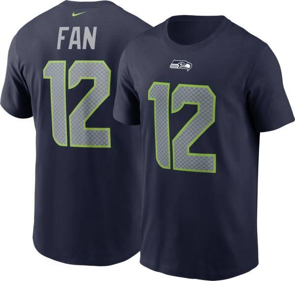 Nike Men's Seattle Seahawks 12th Fan #12 Navy T-Shirt product image