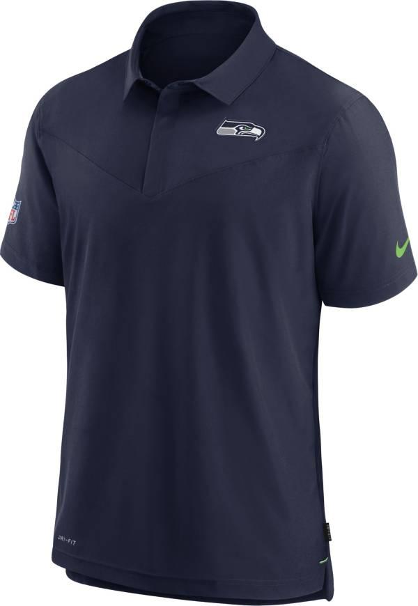 Nike Men's Seattle Seahawks Sideline Coaches Navy Polo product image