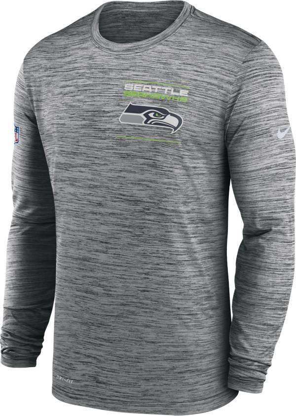 Nike Men's Seattle Seahawks Sideline Legend Velocity Anthracite Long Sleeve T-Shirt product image