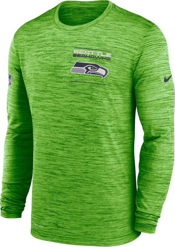 Nike Men's Seattle Seahawks Sideline Legend Velocity Green Long Sleeve T-Shirt product image