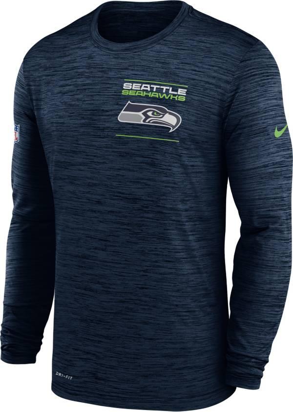 Nike Men's Seattle Seahawks Sideline Legend Velocity Navy Long Sleeve T-Shirt product image