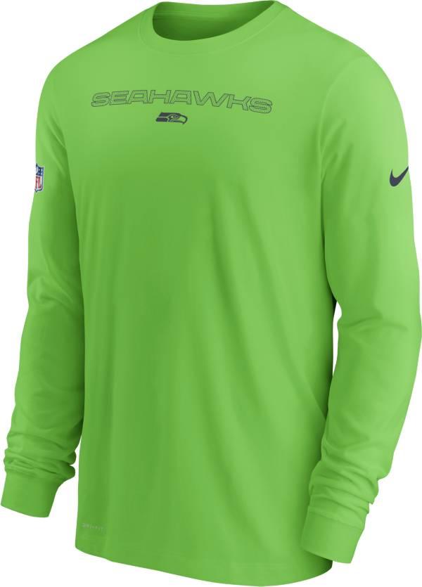 Nike Men's Seattle Seahawks Sideline Team Issue Green Long Sleeve T-Shirt product image
