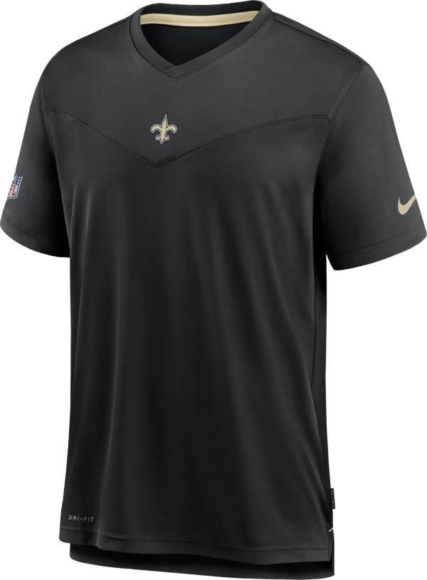 Nike Men's New Orleans Saints Sideline Coaches Black T-Shirt product image