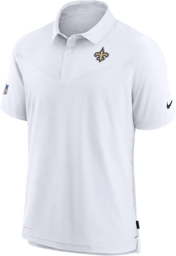 Nike Men's New Orleans Saints Sideline Coaches White Polo product image