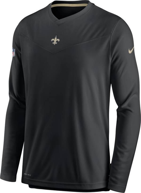 Nike Men's New Orleans Saints Sideline Coaches Black Long Sleeve T-Shirt product image
