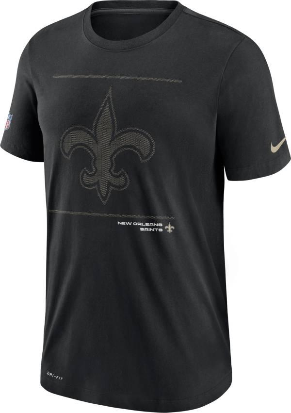 Nike Men's New Orleans Saints Sideline Team Issue Black Performance T-Shirt product image