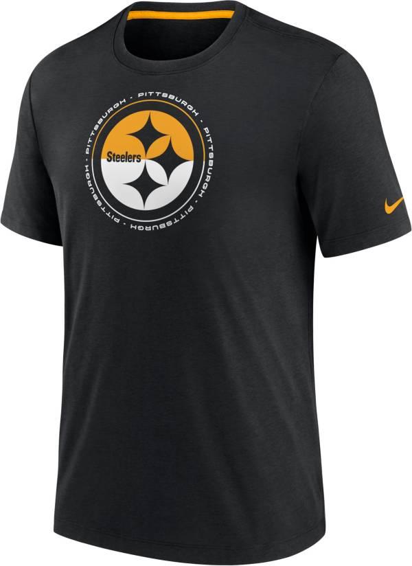 Nike Men's Pittsburgh Steelers Impact Tri-Blend Black T-Shirt product image