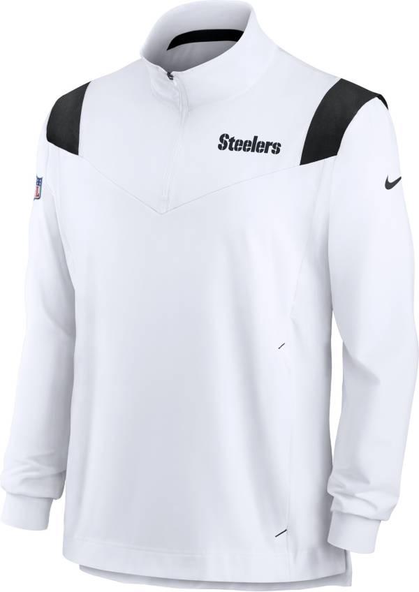 Nike Men's Pittsburgh Steelers Coaches Sideline Long Sleeve White Jacket product image