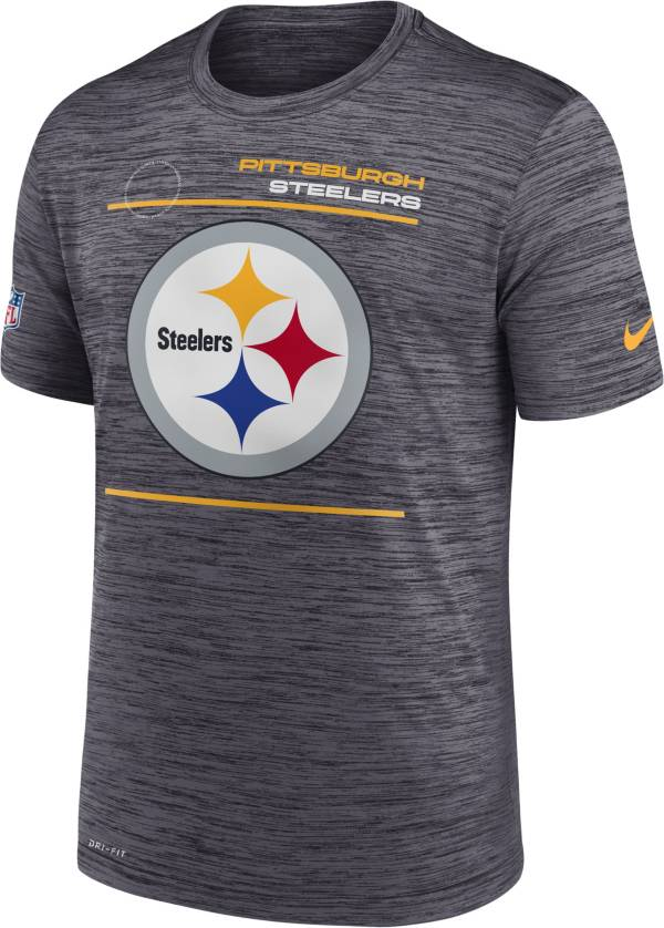 Nike Men's Pittsburgh Steelers Sideline Legend Velocity Black Performance T-Shirt product image