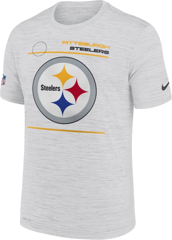Nike Men's Pittsburgh Steelers Sideline Legend Velocity White Performance T-Shirt product image