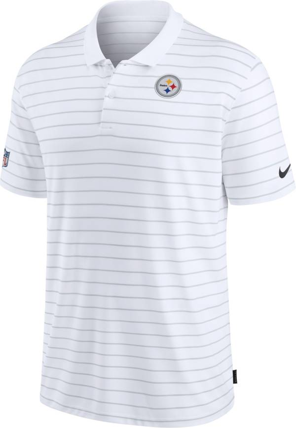 Nike Men's Pittsburgh Steelers Sideline Early Season White Performance Polo product image