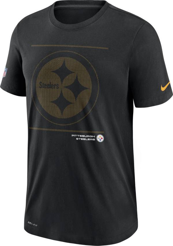 Nike Men's Pittsburgh Steelers Sideline Team Issue Black Performance T-Shirt product image