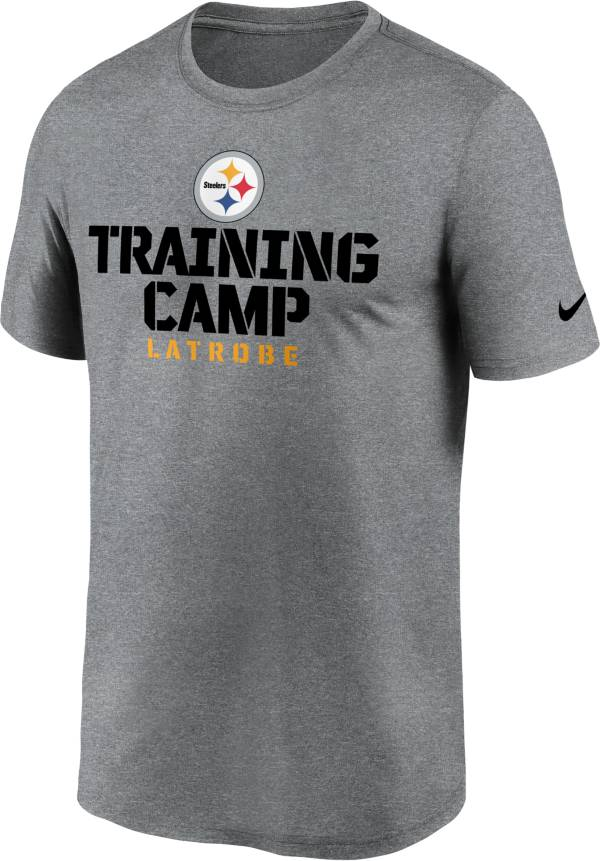 Nike Men's Pittsburgh Steelers Training Camp Legend Grey T-Shirt product image