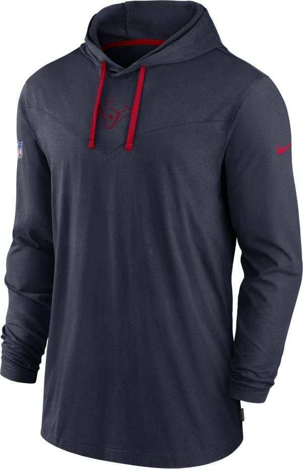 Nike Men's Houston Texans Sideline Dri-FIT Hooded Long Sleeve Navy T-Shirt product image
