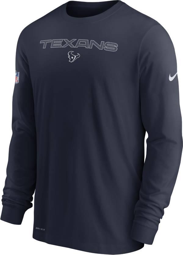 Nike Men's Houston Texans Sideline Team Issue Navy Long Sleeve T-Shirt product image