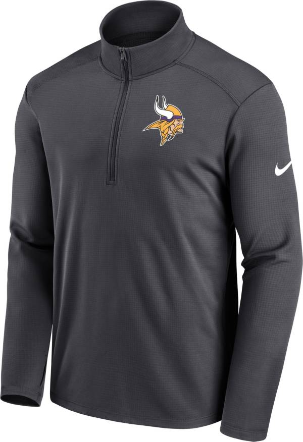 Nike Men's Minnesota Vikings Logo Pacer Grey Half-Zip Pullover product image