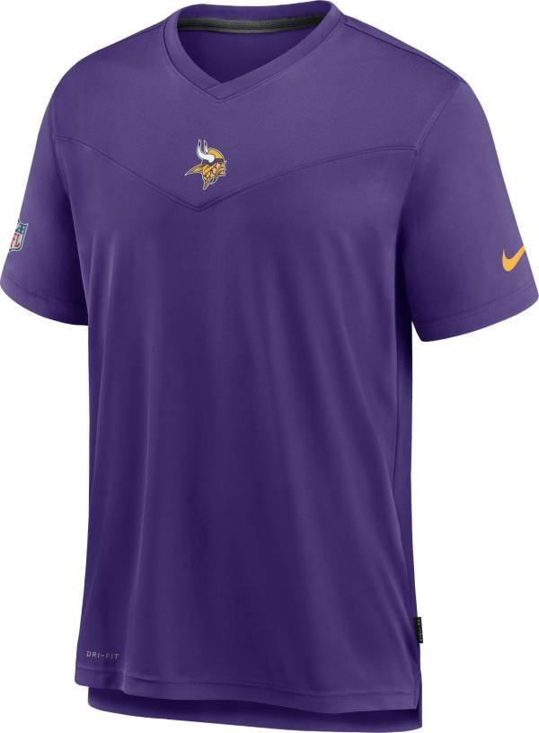 Nike Men's Minnesota Vikings Sideline Coaches Purple T-Shirt product image