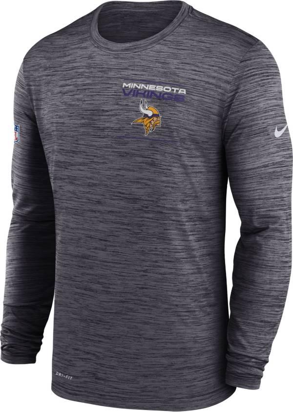 Nike Men's Minnesota Vikings Sideline Legend Velocity Black Long Sleeve T-Shirt product image