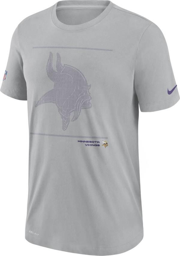 Nike Men's Minnesota Vikings Sideline Team Issue Silver Performance T-Shirt product image