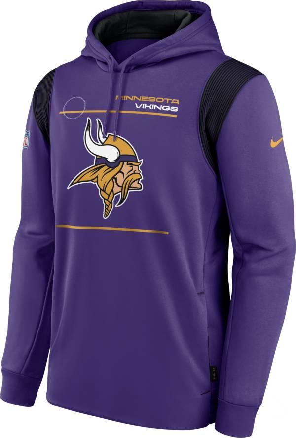 Nike Men's Minnesota Vikings Sideline Therma-FIT Purple Pullover Hoodie product image