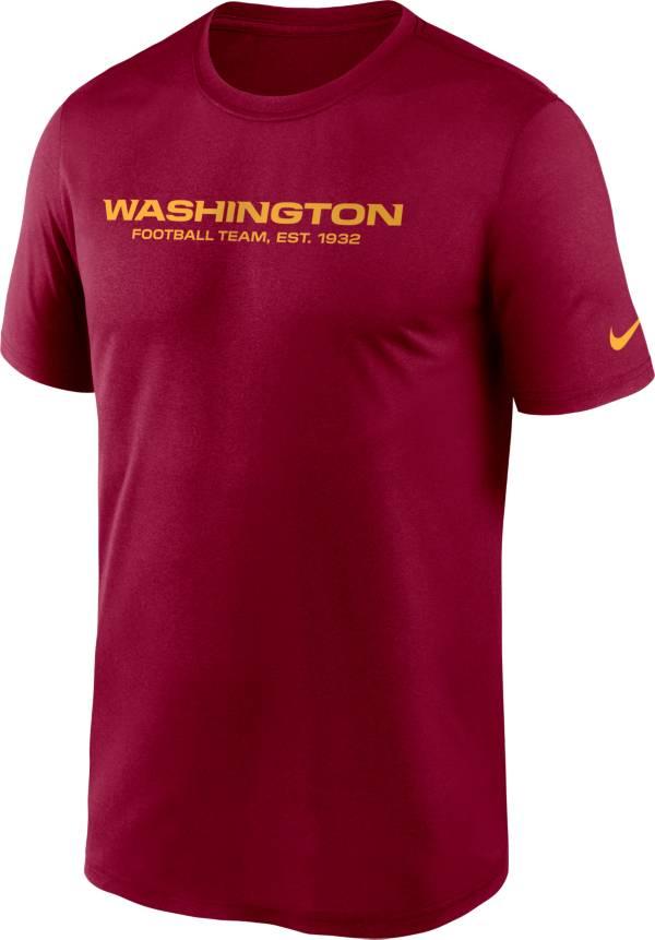 Nike Men's Washington Football Team Legend Wordmark Red Performance T-Shirt product image