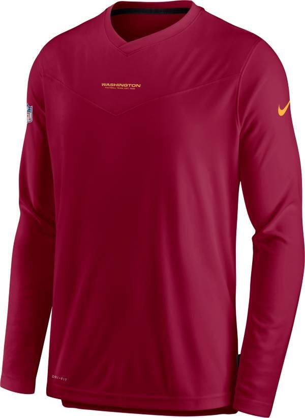 Nike Men's Washington Football Team Sideline Coaches Red Long Sleeve T-Shirt product image