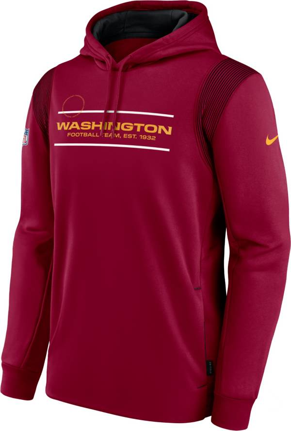 Nike Men's Washington Football Team Sideline Therma-FIT Red Pullover Hoodie product image
