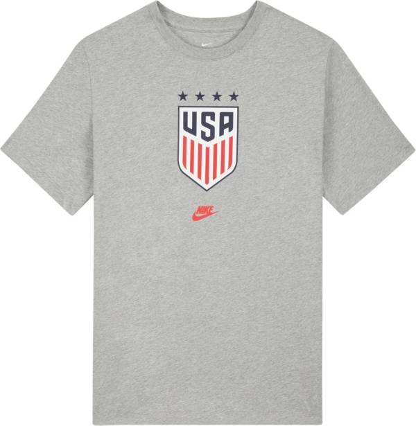 Nike Men's USA Soccer 4-Star Crest Gray T-Shirt product image