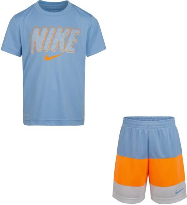 Nike Little Boys' Logo T-Shirt and Colorblock Shorts Set product image