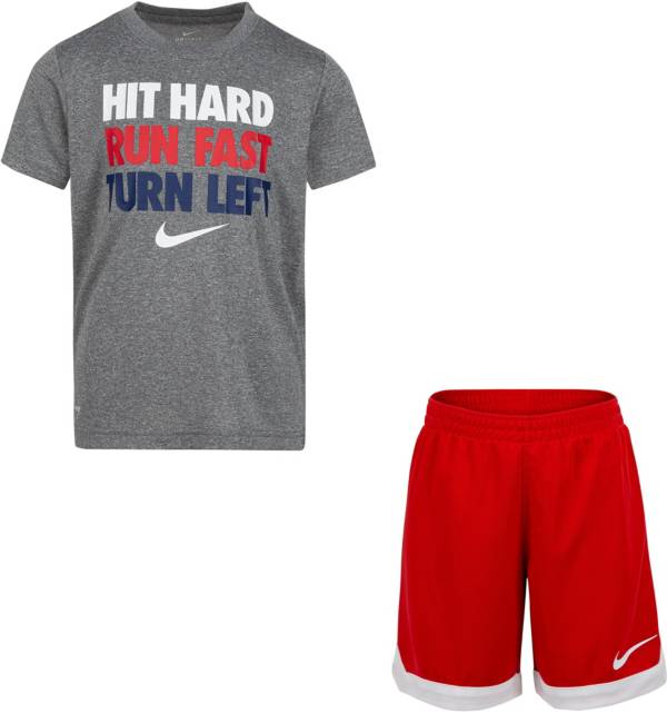 Nike Little Boys' Hit Hard T-Shirt and Tricot Shorts Set product image