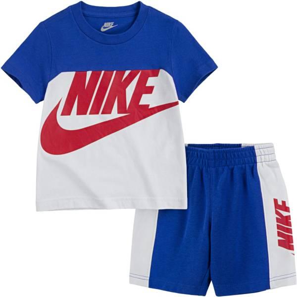 Nike Little Boys' Sportswear Amplify Colorblock T-Shirt and Shorts Set product image