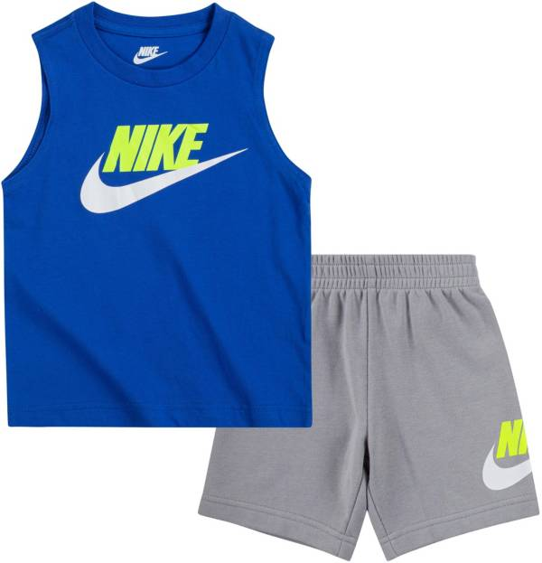 Nike Little Boys' Sportswear Club Muscle Tank Top and Shorts Set product image
