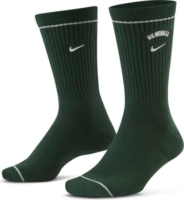 Nike Milwaukee Bucks Green Elite Crew Socks product image