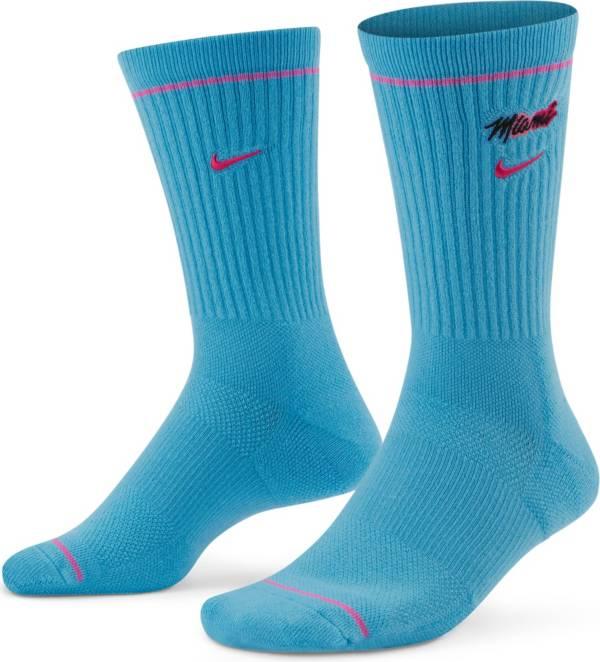Nike Miami Heat Blue Elite Crew Socks product image